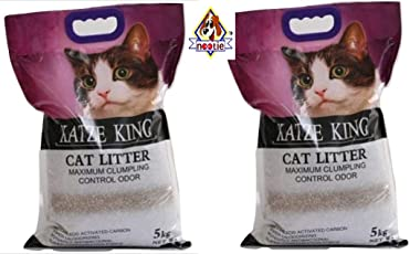 Nootie Katze King Exclusive Scoopable Cat Litter with Strong Odour Control, 5 kg (Pack of 2)