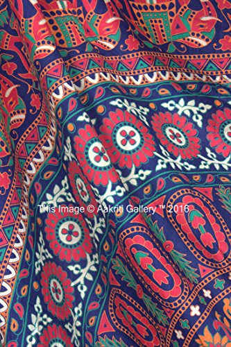 Tapestry Queen Flower Hippie tapestries Mandala Bohemian Psychedelic Intricate Indian Bedspread 92x82 Inches Aakriti Gallery Brand Name: Aakriti Gallery 4