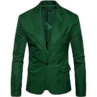 Pingtr Men's Premium Tuxedo Single Breasted One Button Blazer Formal Business Jacket Slim Fit Suits Coat Smart Formal…