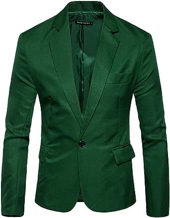Pingtr Men's Premium Tuxedo Single Breasted One Button Blazer Formal Business Jacket Slim Fit Suits Coat Smart Formal Dinner Suits Jacket