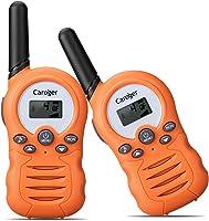 Caroger Ricetrasmittente 8 Canali 2 x Walkie Talkies PMR446MHZ per Bambini 2 Way Radio Interphone PortatileFino a 3300...