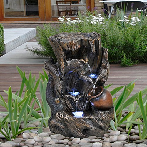 GEEZY Garden Water Feature LED F...