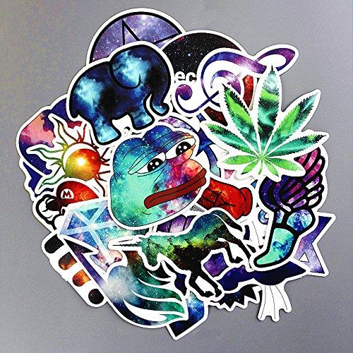 yunkanda 28 Teile / Los Galaxy Farbe Wasserdicht Aufkleber Für Auto Laptop Stamm Skateboard Gitarre Fahrrad Aufkleber Auto-Styling Spielzeug Aufkleber