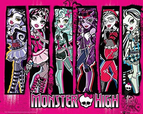 Monster High-Charaktere-40x 50cm Kunstdruck/Poster