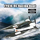 FY616 RC Boat 2.4G Remote Control Racing Boat 20km/h High Speed 2CH Remote Control Boat