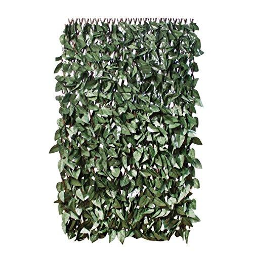 GardenKraft 26140-2x 1m Artificiale Ivy espandibile scuro
