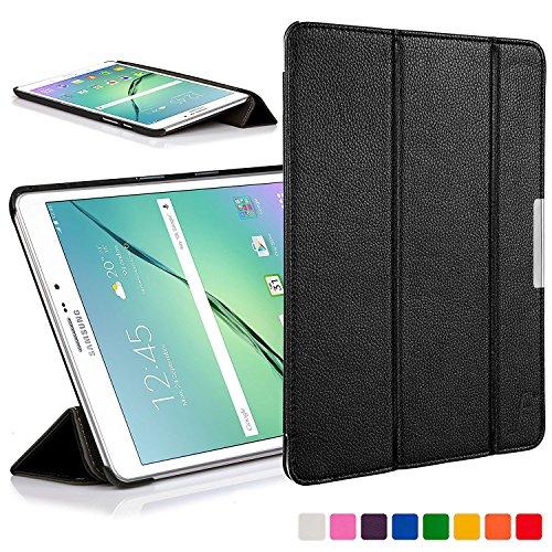 Forefront Cases Samsung Galaxy Tab S2 8.0 Funda Carcasa Stand Smart Case Cover – Ultra Delgado Ligera y Protección Completa del Dispositivo con Función Auto Sueño/Estela (Negro)
