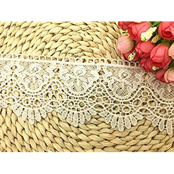 5CM Width Europe Little Butterfly pattern Inelastic Embroidery Lace Trim,Curtain Tablecloth Slipcover Bridal DIY Clothing//Accessories. White 2 yards in one package