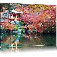 Bella monastero in Giappone Formato: canvas 100x70auf, XXL Immagini enormi completamente Pagina con la barella, incorniciatura sulla foto muro con cornice, più conveniente che dipinti ad olio e immagine, nessun manifesto o locandina