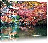 Wunderschönes Kloster in Japan Format: 120x80 auf Leinwand, XXL riesige Bilder fertig gerahmt mit Keilrahmen, Kunstdruck auf Wandbild mit Rahmen, günstiger als Gemälde oder Ölbild, kein Poster oder Plakat