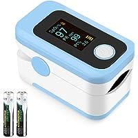 Pulsossimetro da dito, U-Kiss Ossimetro,Pulsossimetro con schermo rotante a LED, Cardiofrequenzimetro portatile per…