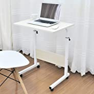 Soges Laptop Computer Stand 60cm Computer Table Adjustable Height, White Maple 05-1-60MPX