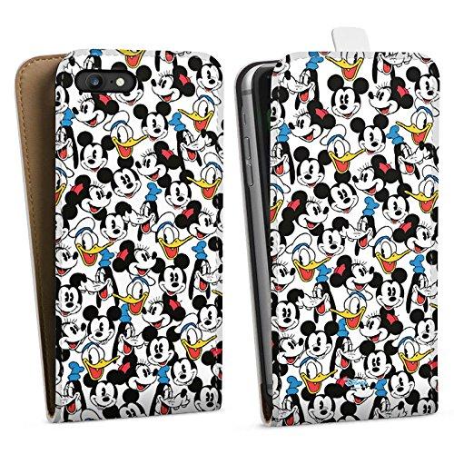 Apple iPhone X Silikon Hülle Case Schutzhülle Disney Mickey Mouse Goofy Donald Duck Minnie Mouse Fanartikel Geschenke Downflip Tasche weiß