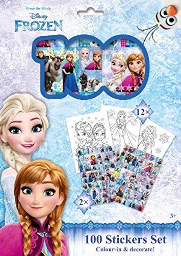 Kit de 100 Stickers et 12 Coloriages Reine des Neiges Frozen ou Cars Disney (Reine des neiges)