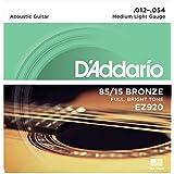 D'Addario EZ920 85/15 Bronze Medium Light Acoustic Guitar Strings