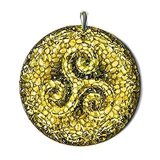 """Amber Magic """"Triskelion"""" Schutzamulett für eine sichere Fahrt, Bernstein, keltisches Design"""