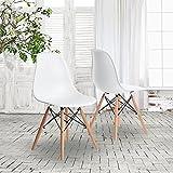 Charles Eames Stil DSW 'Eiffel' weiß Esszimmerstühle, weiß, 2