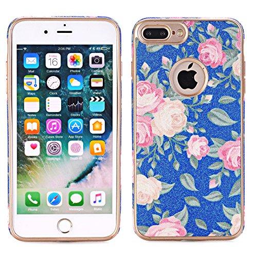 iPhone 7 Weich Hülle, TechCode Blumenmuster TPU Weiche Schale Super Dünn und Leichte Schützender Hülle für Apple iPhone 7 (iPhone 7, A07) A05