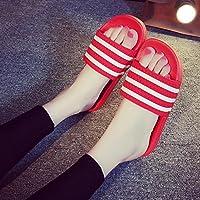 fankou Macho y Hembra de Verano Verano Zapatillas de Baño Baño Precioso, Suave Antideslizante Barras Interiores quedarme un par de Zapatillas Cool,39-40,a-Zapatillas (Rojo)