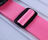 Peino Correa para equipaje de bicicleta, con hebilla de liberación lateral, color rosa