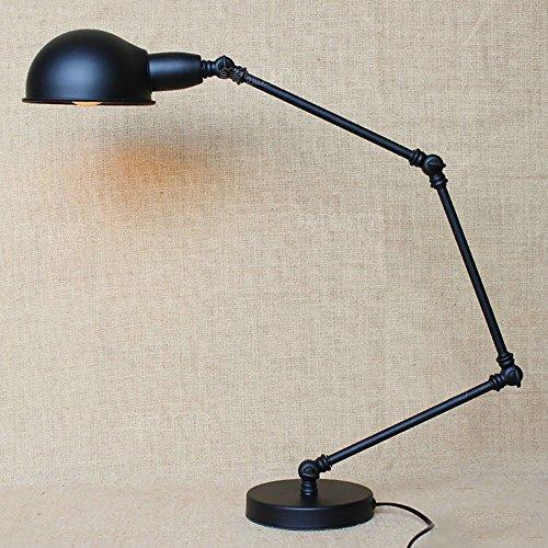 TOYM UK Simple rétro personnalité créatif bar comptoir chambre à coucher lecture écriture éclairage décoratif élégant lampe noire
