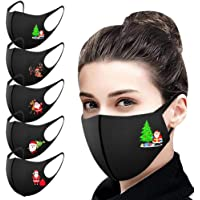 UK 5/10/25PCS Adults Washable Reuse Face_Masks Breathable Delicate New Cute Christmas Printed Fashion Bandanas Outdoor…
