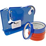 PrimeMatik - Sluitmachine sluit zakken. Plastic zakverzegelaar met 8 plakband