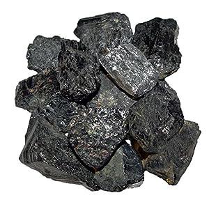 100 Gramm Turmalin schwarz Schörl Roh Steine Wassersteine Natur Roh Stücke unbehandelt.(4123)