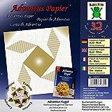 Adventus Papier Gold Weiß: Papier für Buch: Adventus Kugel - Weihnachtskugel mit Sternen als Dekoration zur Weihnachtszeit (ISBN 978-3-938127-22-3) ... als Dekoration zum Advent und Weihnachten)