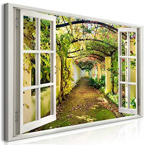 murando Mega XXXL Fensterblick Wandbild 170x85 cm - Einzigartiger XXL Kunstdruck zum Aufhängen...