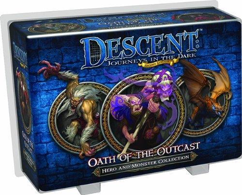Fantasy Flight Games - Descent 2° edizione - Il Giuramento del Reietto, Nuova dotazione per eroi e mostri [lingua inglese]