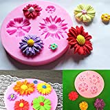 L-FENG-UK Silicone Sunflower Mold Cake Decorating Chocolate Sugar Craft Mould