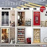 Türtapete selbstklebend Türposter – STEG ZUM MEER – Fototapete Türfolie - 3