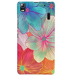 Citydreamz Colorful Floral Print Hard Polycarbonate Designer Back Case Cover For Lenovo A7000