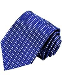LORENZO cANA-produit de marque, de grande qualité 100%  cravates en soie bleu/blanc à carreaux - 84317–freins universels -