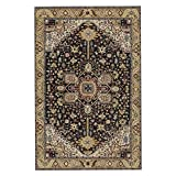 Traditioneller Vintage Persian Floral Oriental Area Rug, Easy Clean Sain Fade resistent Shed Classic Thick Soft Living Dining Room Rug,100 * 160CM(3'x5')