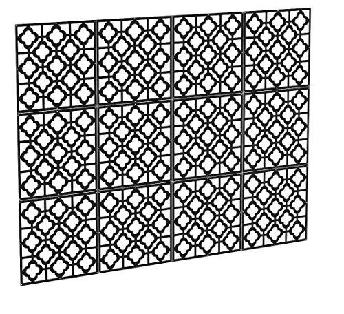 Kernorv Divisor de habitación hecho de PVC respetuoso con el medio ambiente, para armar en casa 12 piezas Panel colgante sencillo y moderno para decorar habitaciones, salones, estudios, comedores