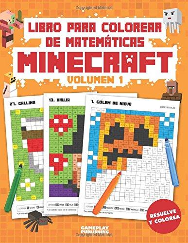 Gratis Libro Para Colorear De Matematicas Minecraft Arte Pixelado