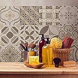 24 (Piezas) Adhesivo para Azulejos 15x15 cm - PS00139 - Vienna - Adhesivo Decorativo para Azulejos para baño y Cocina - Stickers Azulejos - Collage de