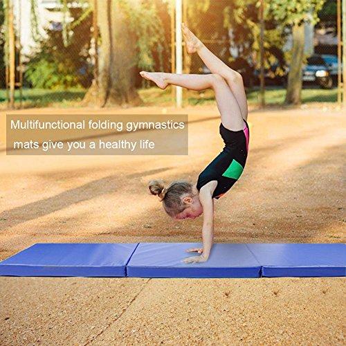 Sports materassino yoga mat tappetino da yoga morbido pieghevole materasso antiscivolo gym mat durevole comfort per fitness e palestra pilates / esercizi / ginnastica 180 * 60 * 5 cm
