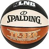 Spalding Lnb TF350 Ballon de Basket-Ball Mixte Adulte, Noir/Orange/Blanc, Taille 5