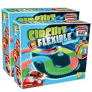 Circuit Flexible et Lumineux 324 pcs – Le circuit de voitures dont les rails se tordent à volonté et s'illuminent