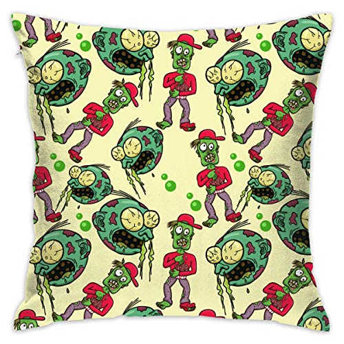 Zombie Halloween Celebration Throw Pillow Covers Decorative Pillowcases Toss Pillow Cushion Slips Covers for Sofa Couch Car 18