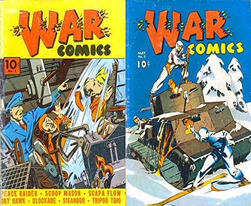 War Comics. Issues 1 and 2. Features peace rider, scoop mason, scapa flow, sky hawk, blockade, sikandur, tripod trio and more. Golden Age Digital Comics Military and War. (English Edition) -