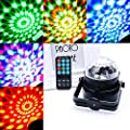 Hotrose® Rotating Disco KTV Bar Party Stage Lighting - LED RGB Crystal Ball Light with remote control