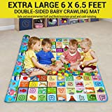 TIED RIBBONS Kids Waterproof Double Side Baby Play Crawl Floor Mat,S(Multicolour)