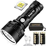 30000-100000 Lumen High Power LED Waterproof Flash Light, Super Bright 3 Modes Zaklampen met High Power Batterij & USB Oplade
