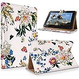 "art&cherry 7"" (7Zoll) Tablet / Tablet-PC Hülle Case - Fintie Ultradünne Smart Shell Cover Lightweight Schutzhülle Tasche Etui Blumen Muster 5"