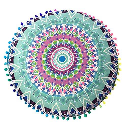 Kopfkissen, janly® 80* 80cm indischen Mandala Boden Kissen Fall rund BOHEMIAN Kissen Kissen Schutzhülle, Polyester, I, 80*80cm/(31.5*31.5