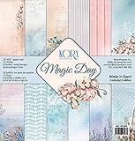 Pack (12) Scrapbooking carta (30,5 x 30,5 cm) - Magic Day